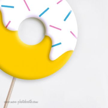 Limonade et Donuts Photobooth Accessoires