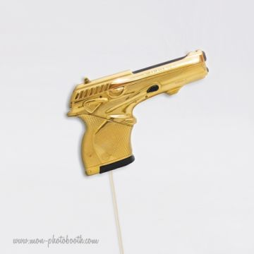 Pistolet Gold - Agent Secret- Photobooth Accessoire