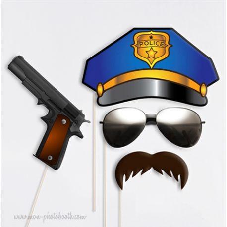 Policier Uniforme Photobooth Accessoires