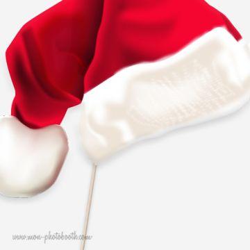 Père Noel Et Mère Noel Photobooth accessoires