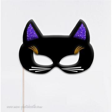 Masque de Chat - Taille Enfant - Photobooth Accessoire