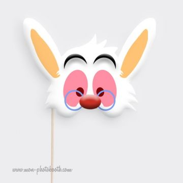 Lapin Blanc -Taille Enfant - Photobooth Accessoire