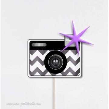 Appareil Photo Chevrons Flash Photobooth Accessoire