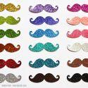 Maxi Lot de 18 Moustaches Photobooth à Paillettes