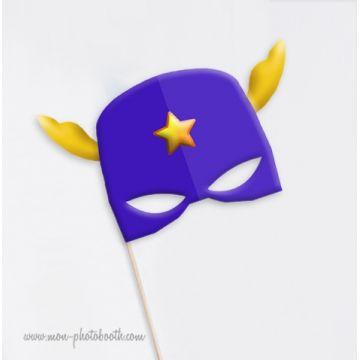 Masque Super Héros - Ailes et Etoile- Taille Enfant - Photobooth