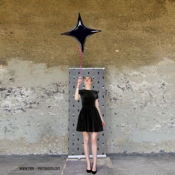 Ballon Mylar Etoile Design Noir