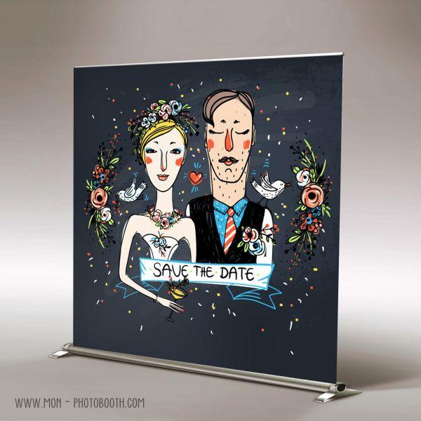 decor photobooth photocall mariage couple de mari s mon photobooth. Black Bedroom Furniture Sets. Home Design Ideas