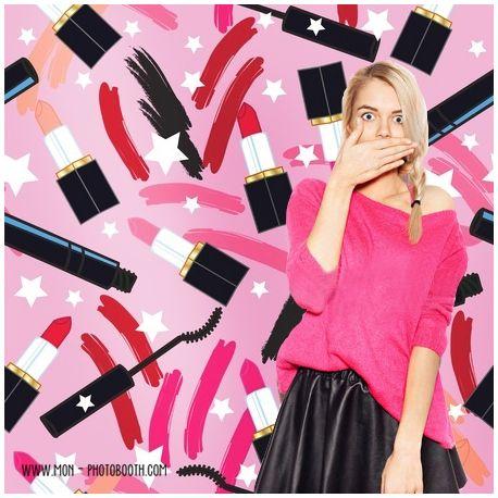 Decor Photobooth Photocall Rouge à lèvres Lipsticks