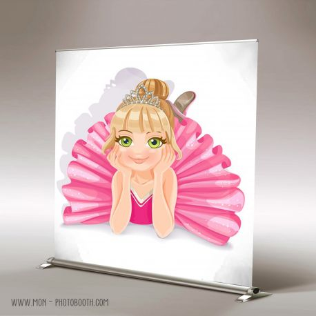 Decor Photobooth Photocall Enfant Ballerine