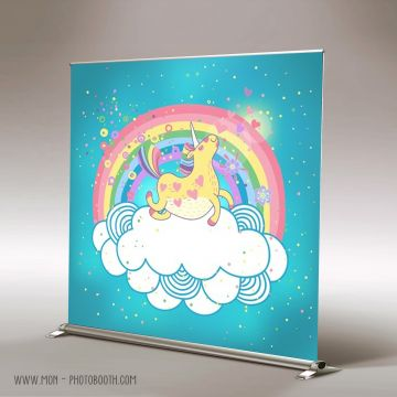 Decor Photobooth Photocall Licorne Arc en Ciel