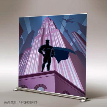 Decor Photobooth Photocall Super Héros City