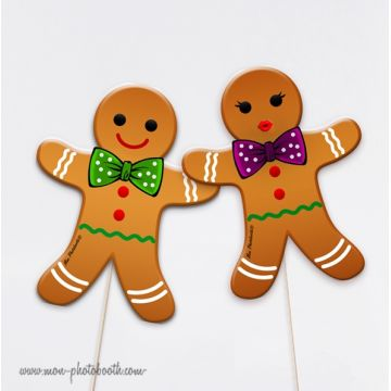 Monsieur Biscuit Gingerbread Photobooth Accessoires