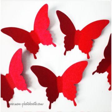 Confettis Papillons de Table Rouge (80 pièces)
