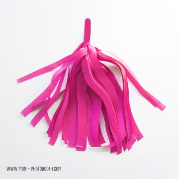 Pompon Franges Tassel - Rose Vif - Papier Soie pour Guirlande DIY