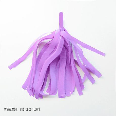 Pompon Franges Tassel - Lilas - Papier Soie pour Guirlande DIY