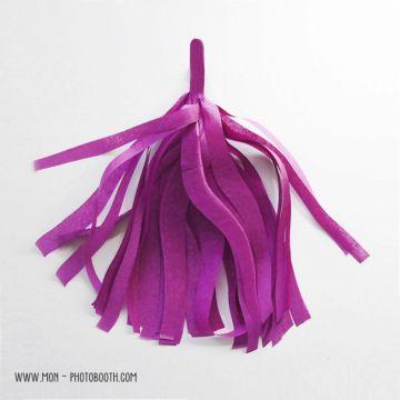 Pompon Franges Tassel - Prune - Papier Soie pour Guirlande DIY