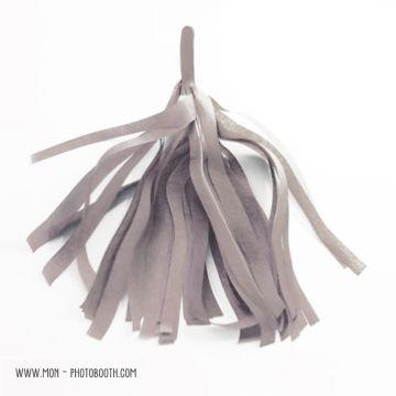 Pompon Franges Tassel - Gris - Papier Soie pour Guirlande DIY