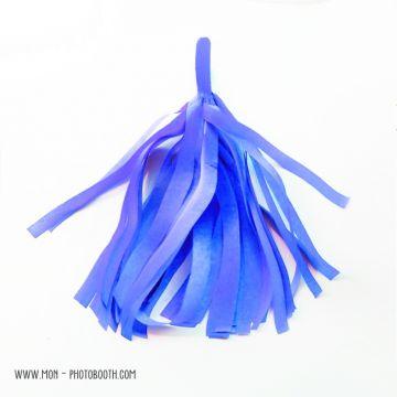 Pompon Franges Tassel - Bleu Vif - Papier Soie pour Guirlande DIY