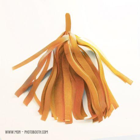 Pompon Franges Tassel - Or irisé - Papier Soie pour Guirlande DIY