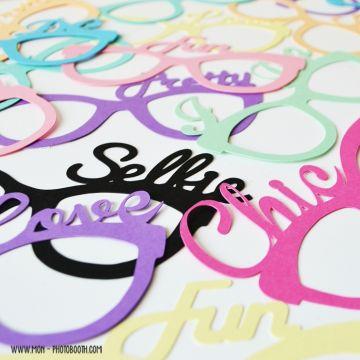 Lunettes écriture à personaliser