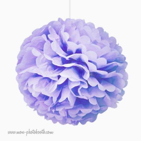 Rosace Pompon Fleur Papier de Soie Parme