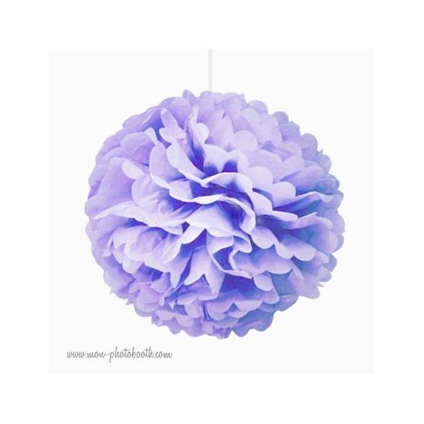 rosace pompon fleur papier de soie parme. Black Bedroom Furniture Sets. Home Design Ideas