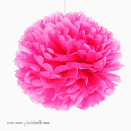 rosace pompon fleur papier de soie rose vif mon photobooth. Black Bedroom Furniture Sets. Home Design Ideas