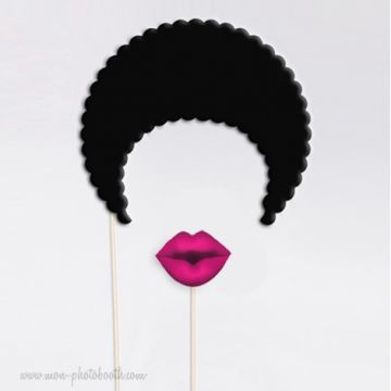 Afro Style Old School Lady Photobooth Accessoires