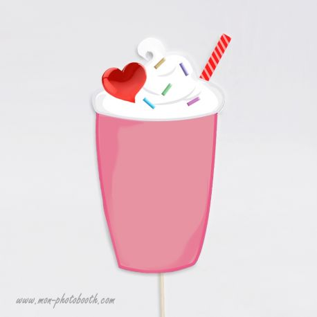 Milkshake Chantilly Photobooth Accessoire