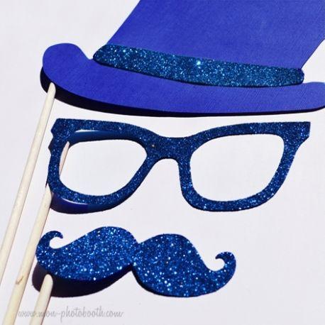 Moustaches Lunettes Haut de Forme Photobooth Accessoires