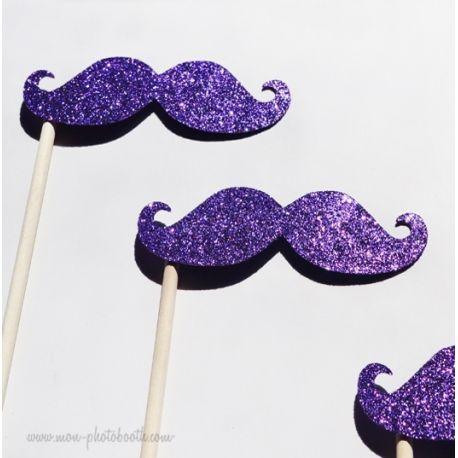Lot de 3 Moustaches Paillettes Filles Photobooth Accessoires