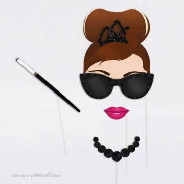 Retro Chic Audrey Hepburn Photo Booth Accessoires