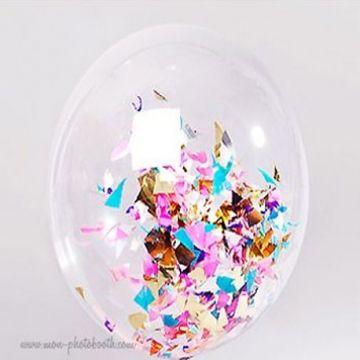 ballon confettis interieur