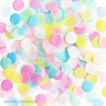 Confettis papier de soie multicolores