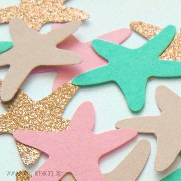Confettis Etoiles de Mer - Sirène