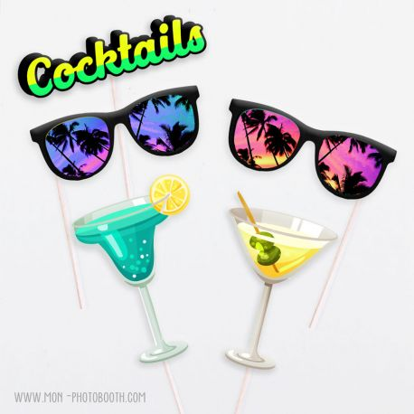 Accessoires Photobooth Cocktails