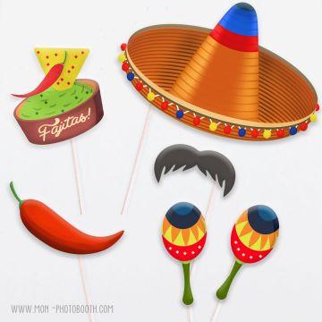 Accessoires Photobooth Mexicain