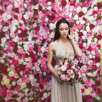 Mur de fleurs mariage Multicolore