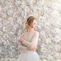 Mur de fleurs ivoire- Le Madeleine Vionnet