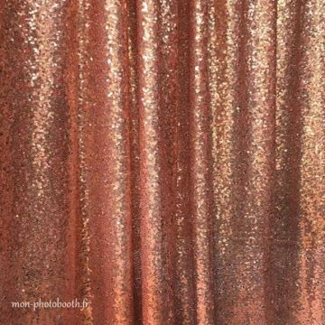 Decor Photobooth Sequins - Or Rose
