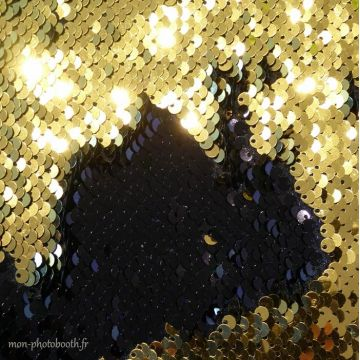 Decor Photos Sequins reversible Noir - Or