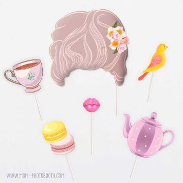 Photo Booth Accessoires Marie Antoinette