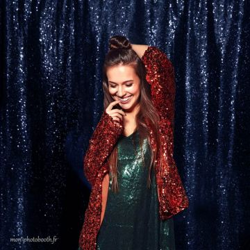 decor photobooth sequin marine
