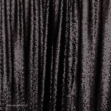 Decor Photo Paillettes Noir