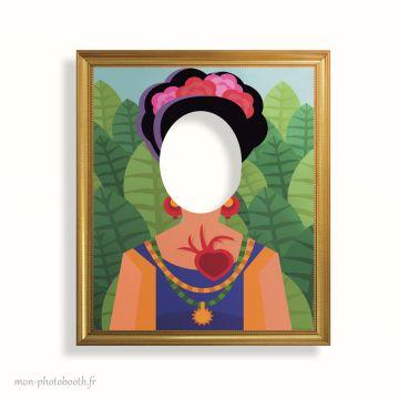 Cadre Photobooth - Tableau Frida Kahlo