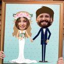 Cadre Photobooth Mariage- Couple de Mariés
