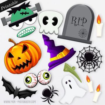 Accessoires Photobooth à imprimer - Halloween