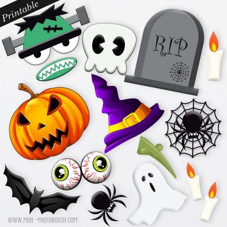 accessoires photobooth imprimer halloween. Black Bedroom Furniture Sets. Home Design Ideas