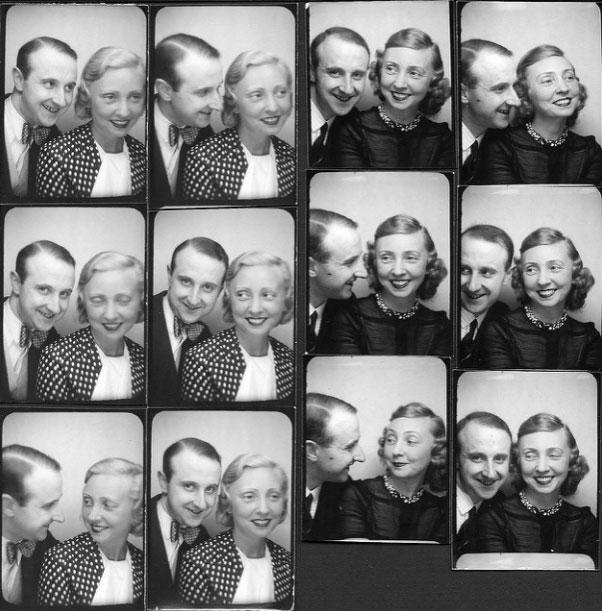 Photobooth rétro dans les années 50