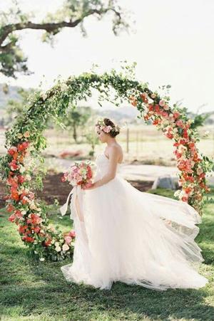 arche florale mariage